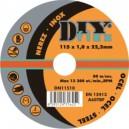Řezný kotouč na ocel DIY 125x1,6x22,2